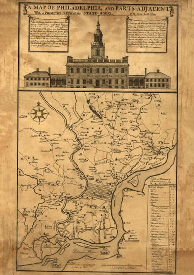 Map of Philadelphia and Parts Adjacent 1752. Print/Poster (5139)